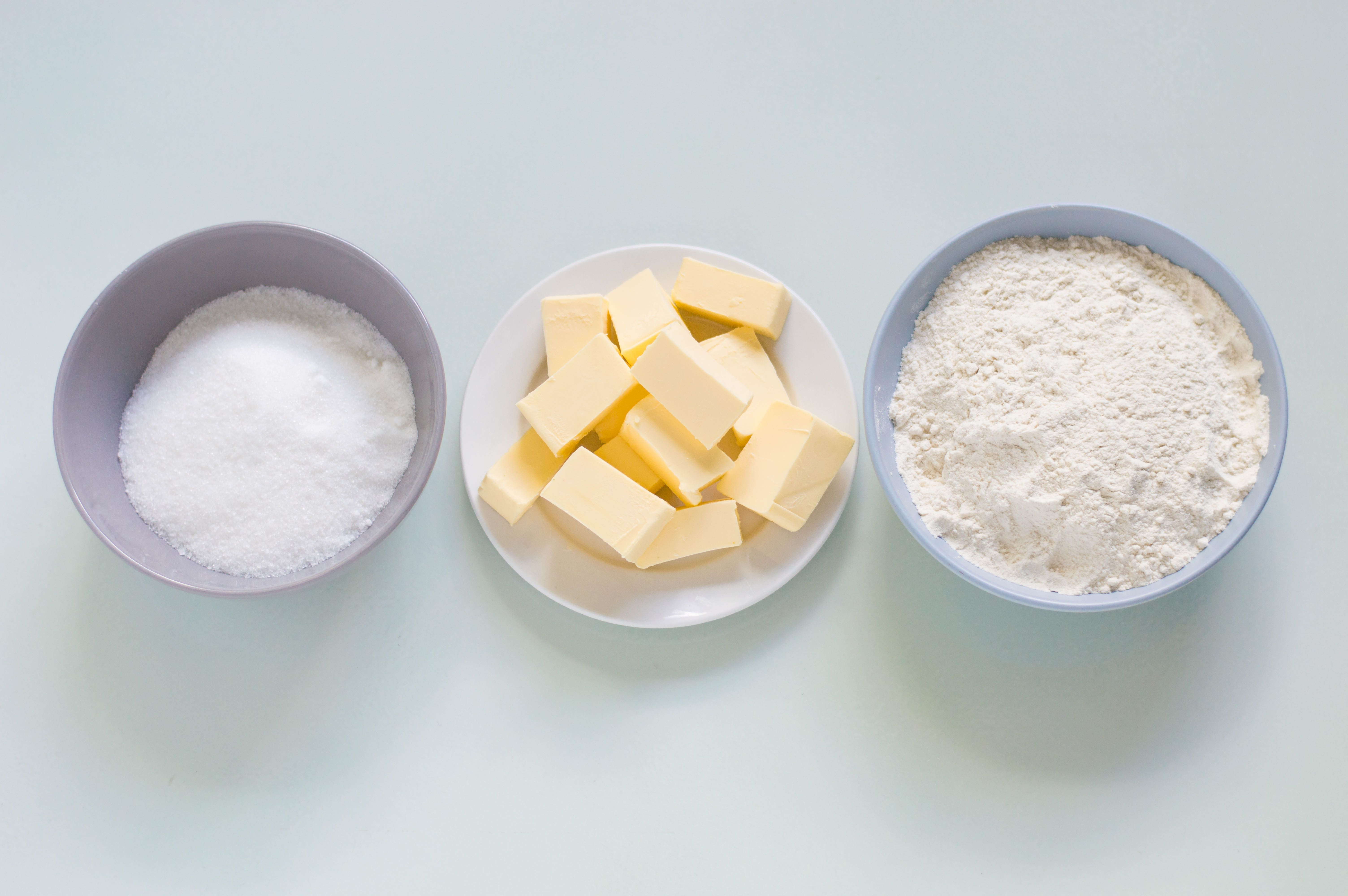 Ingredients for shortbread