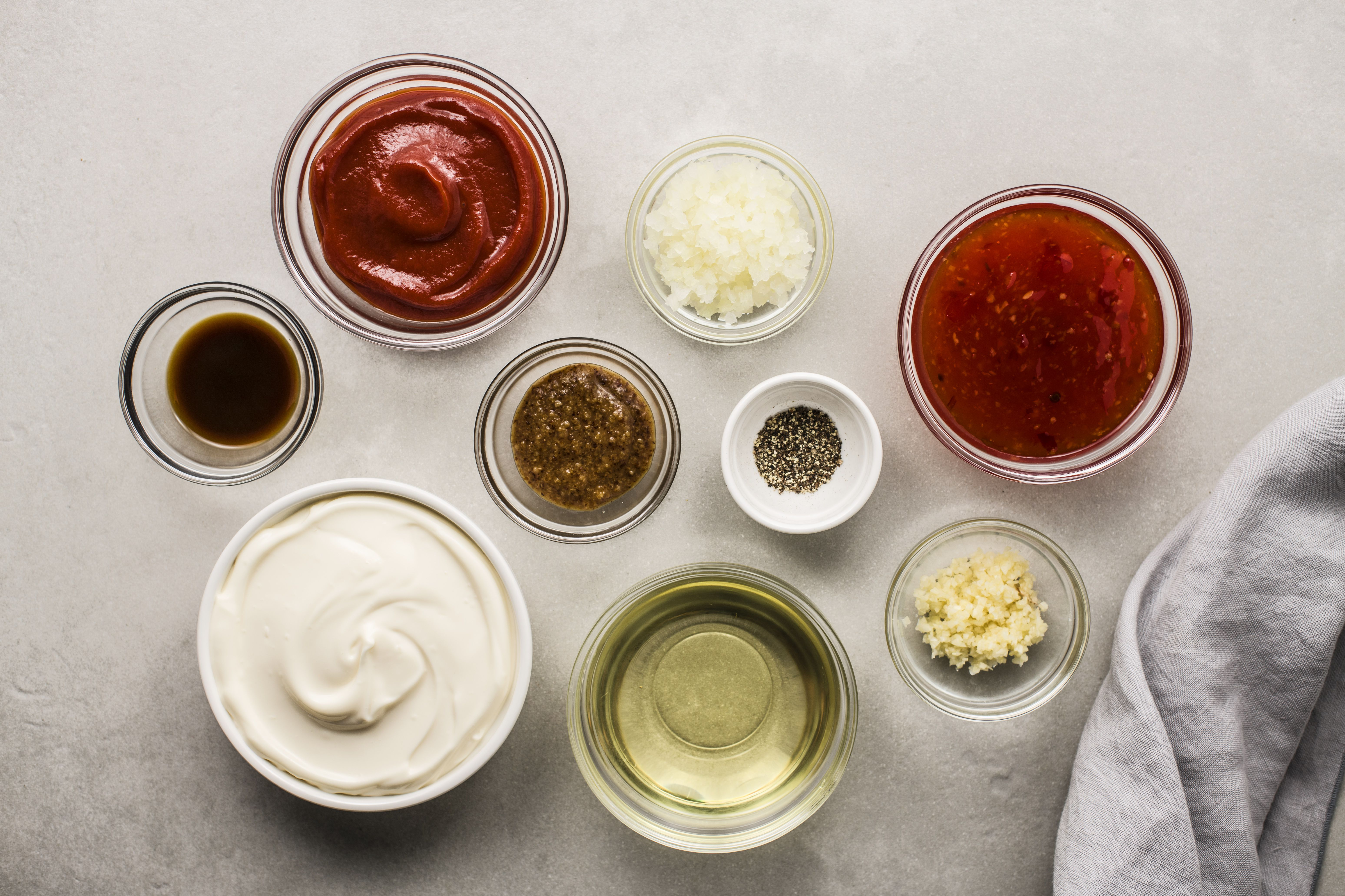Ingredients for classic Southern comeback sauce
