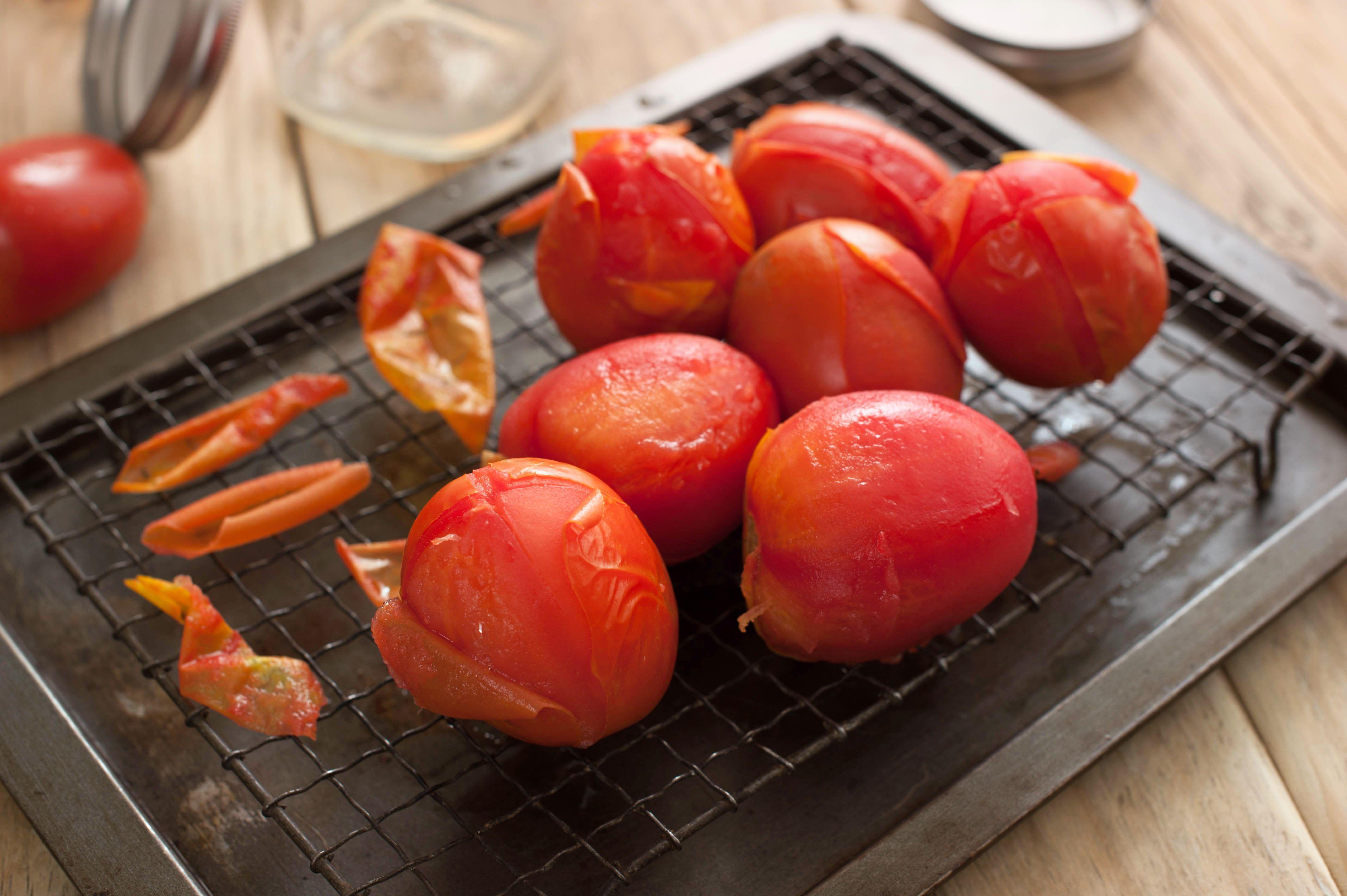 Remove tomato skins