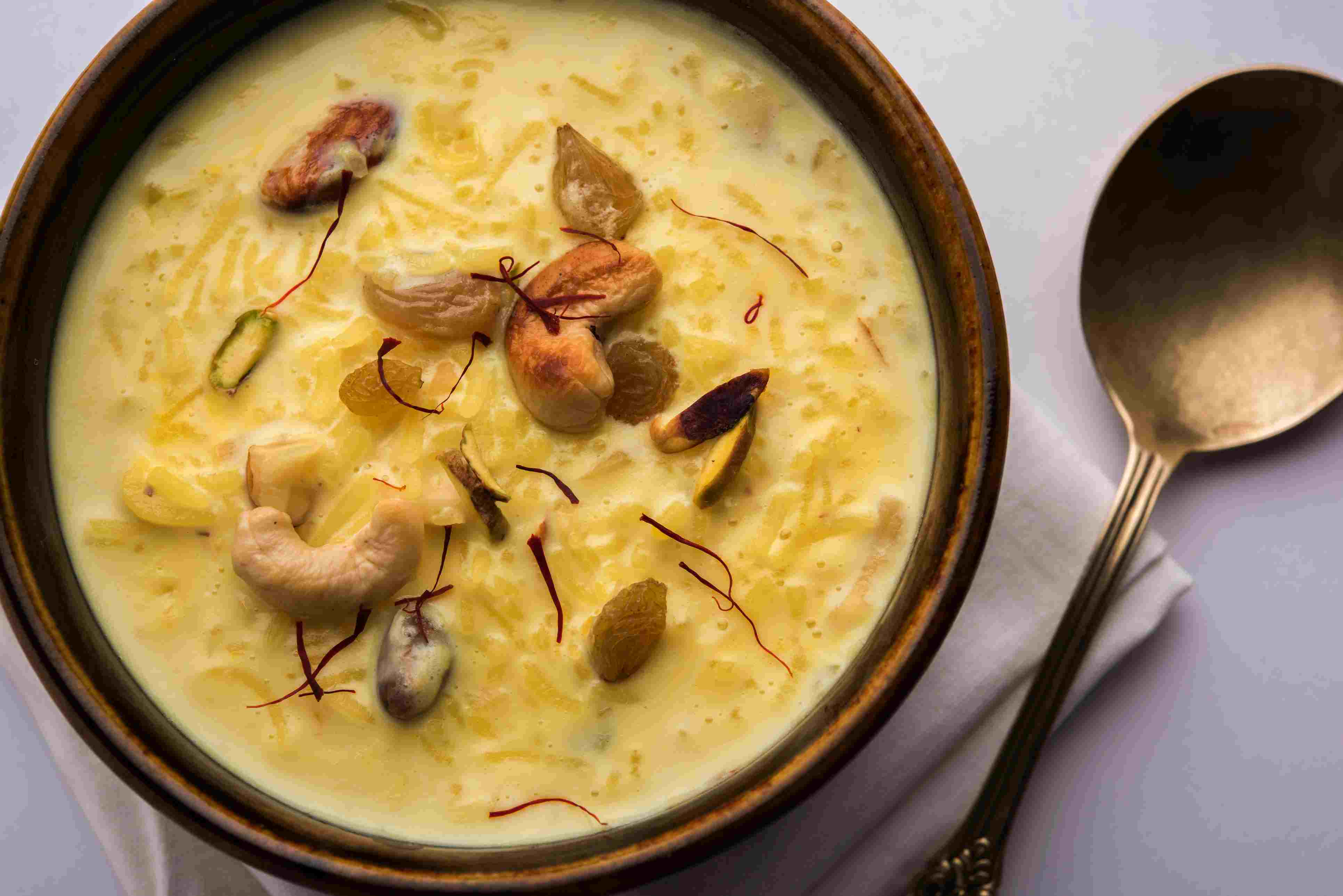 Kheer or Indian rice pudding