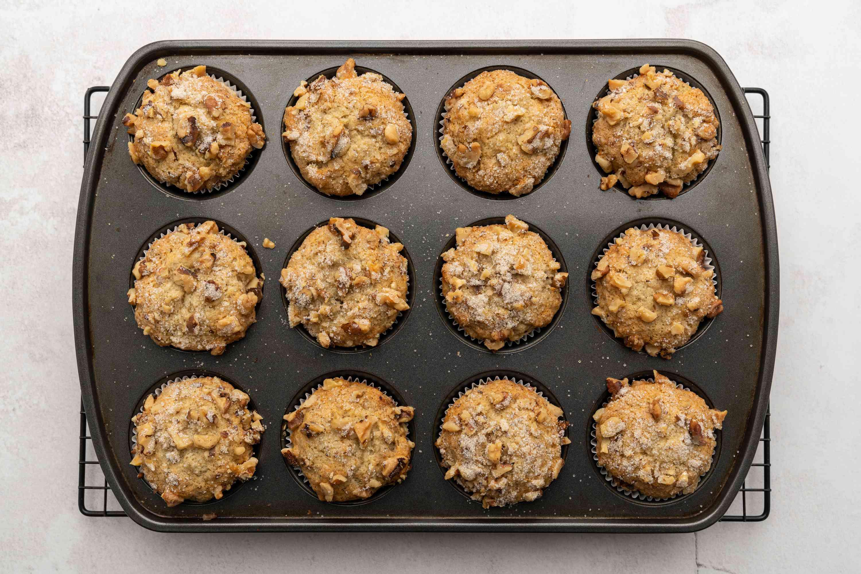 Vegan Banana Muffins in muffin tins