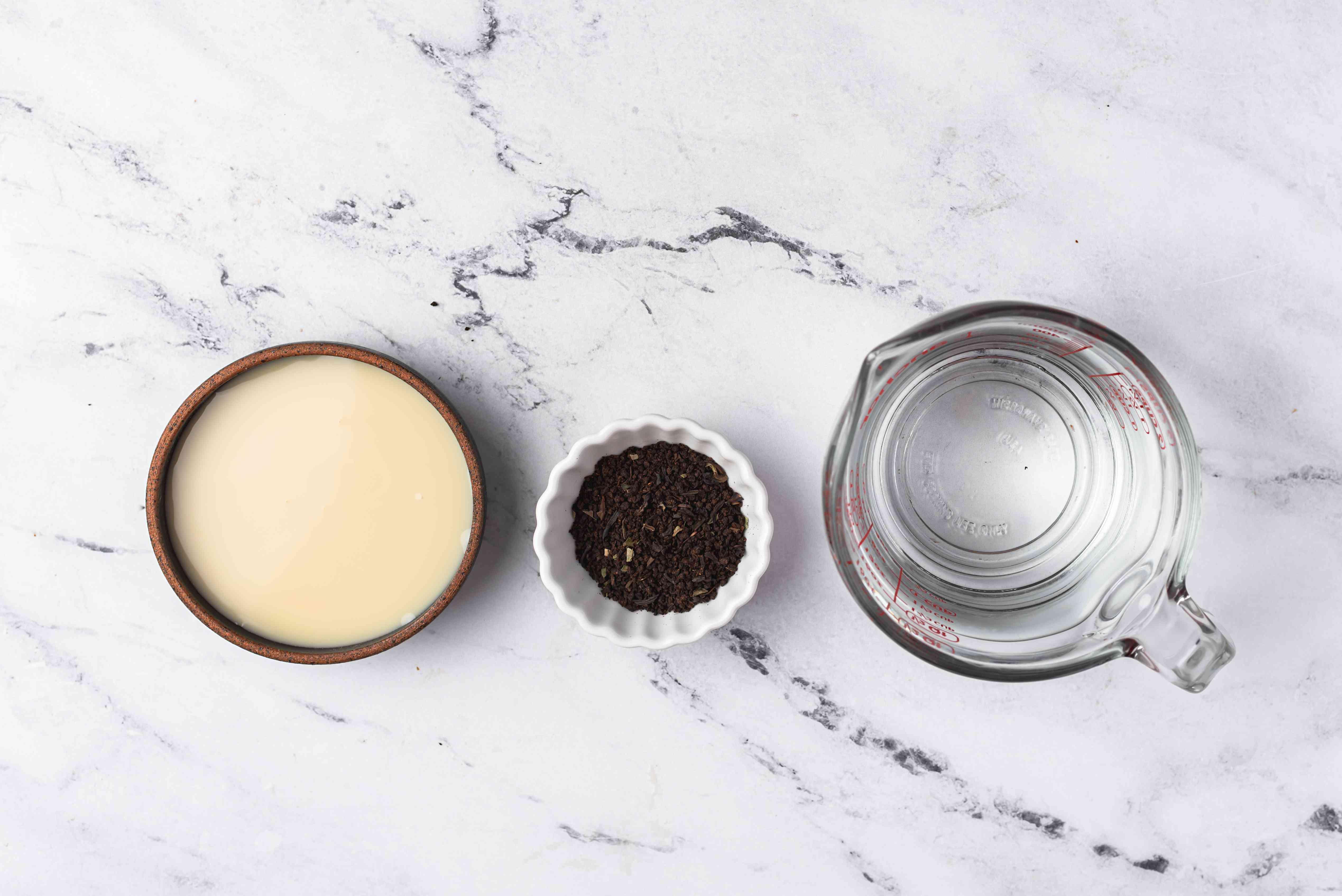 Ingredients for Hong Kong milk tea