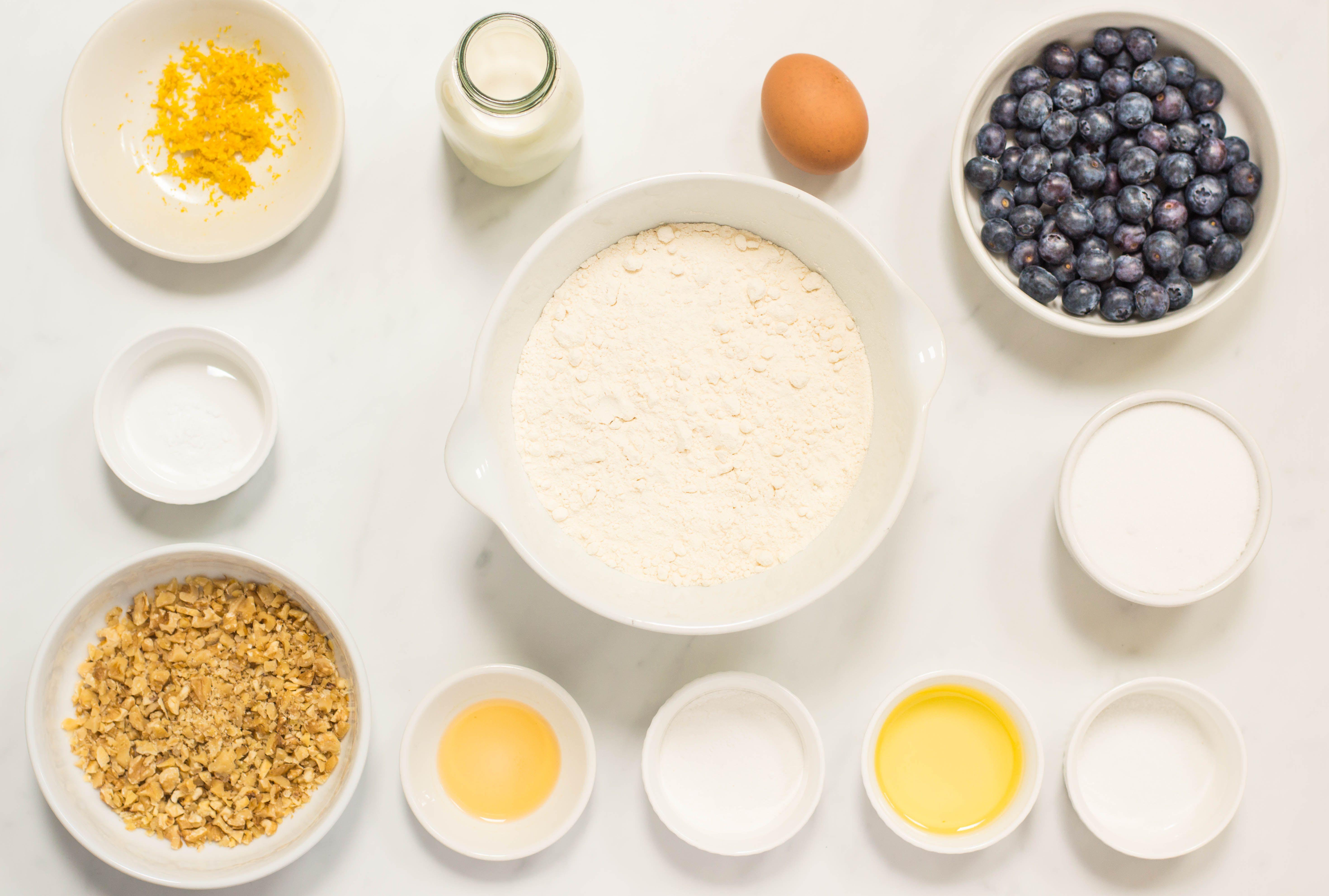 Blueberry Bread recipe ingredients