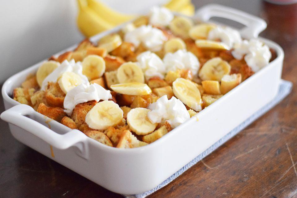 Bananas Foster Cacerola de tostadas francesas