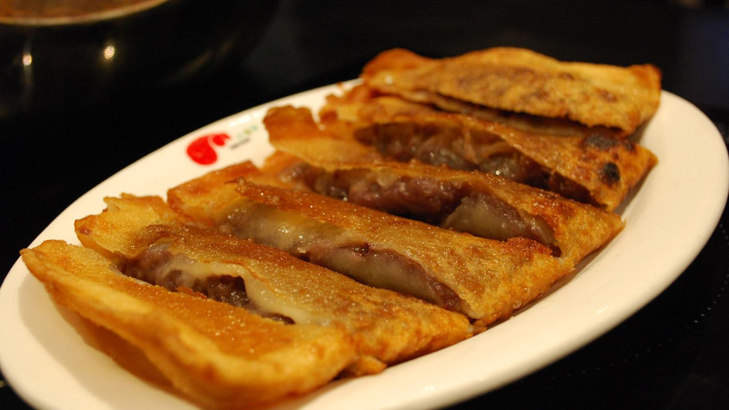 Red Bean Paste Pancakes Chinese Crepes Recipe
