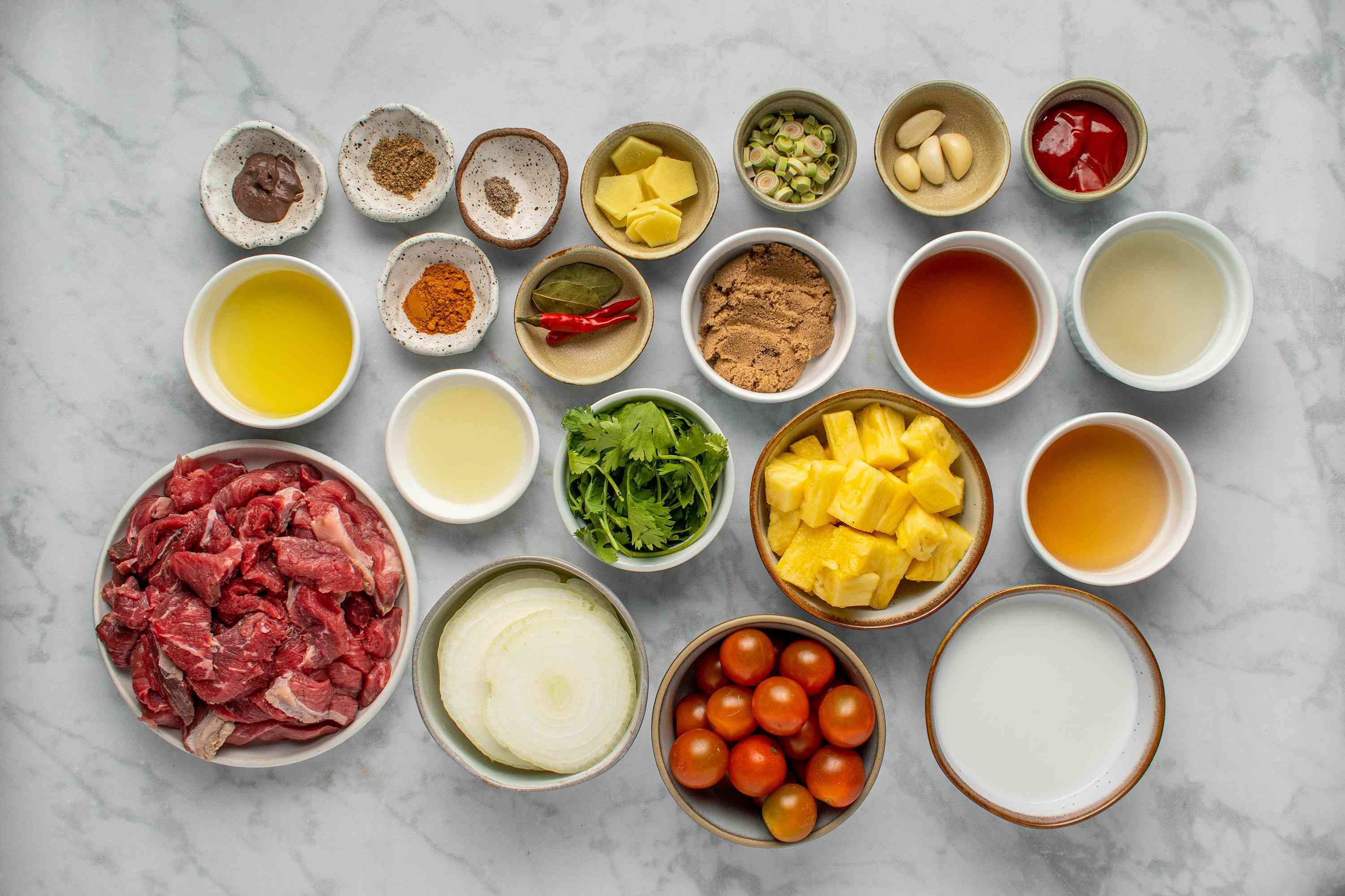 Thai Beef Coconut Curry ingredients