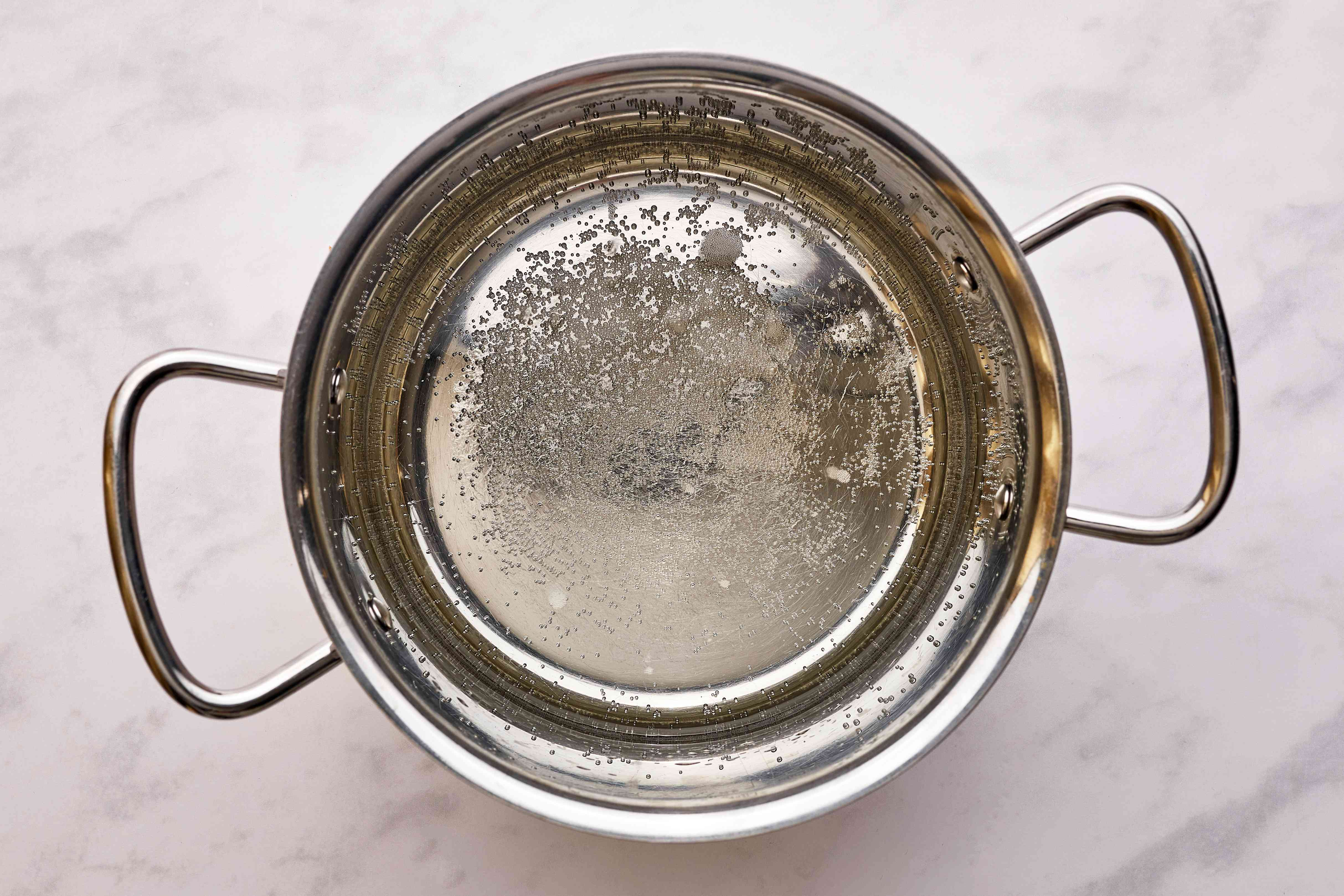 water in a pan