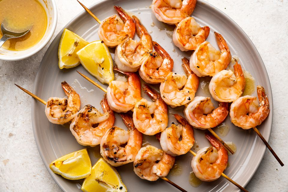 Grilled Shrimp With Garlic Butter Dipping Sauce Recipe
