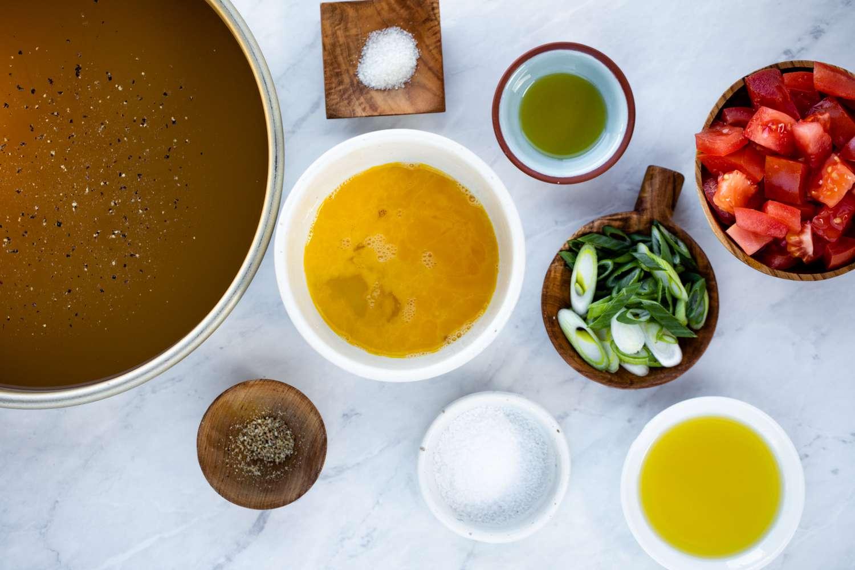 Tomato Egg Drop Soup ingredients