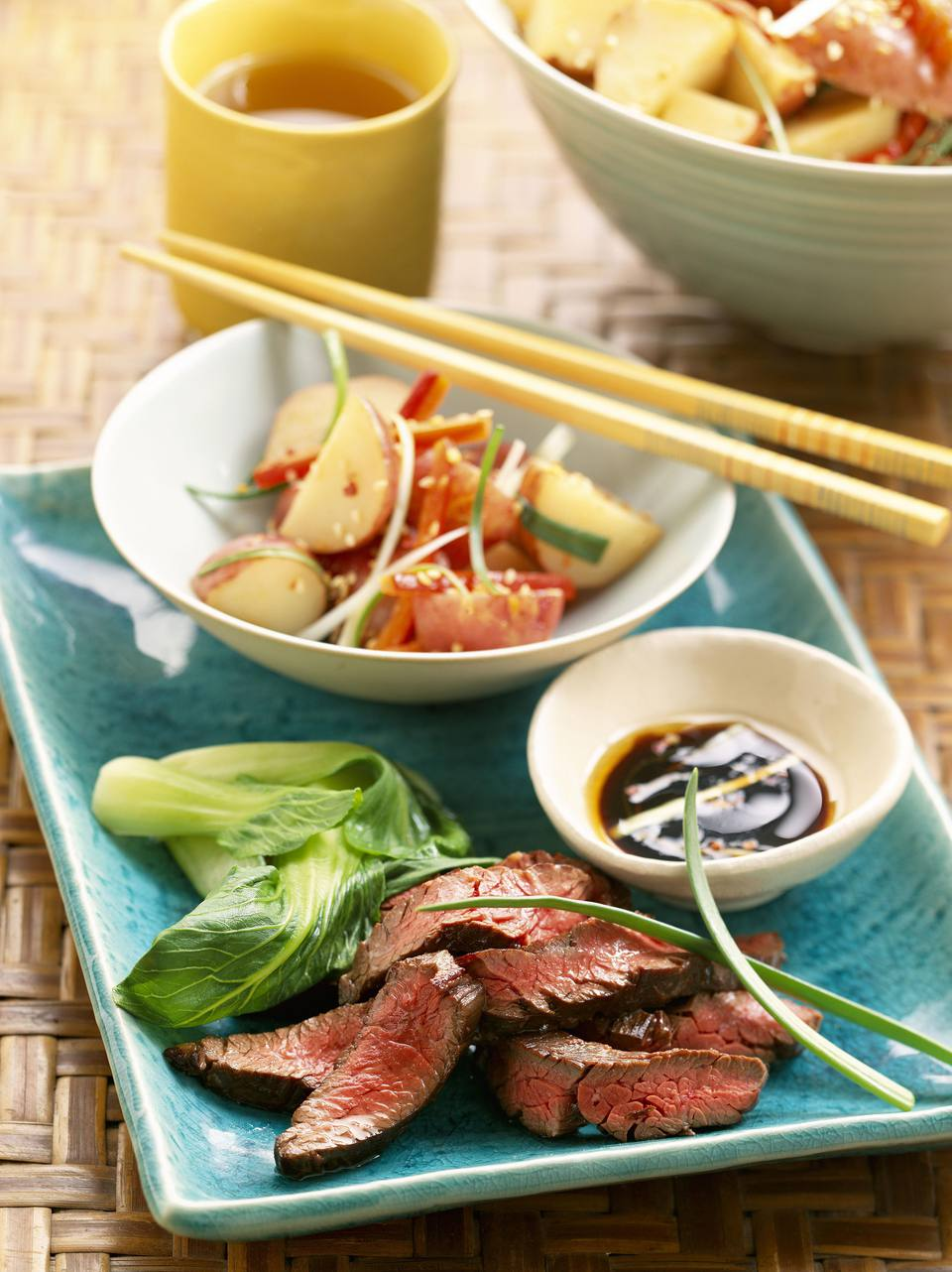 Grilled Gin and Soy Marinated Flank Steaks