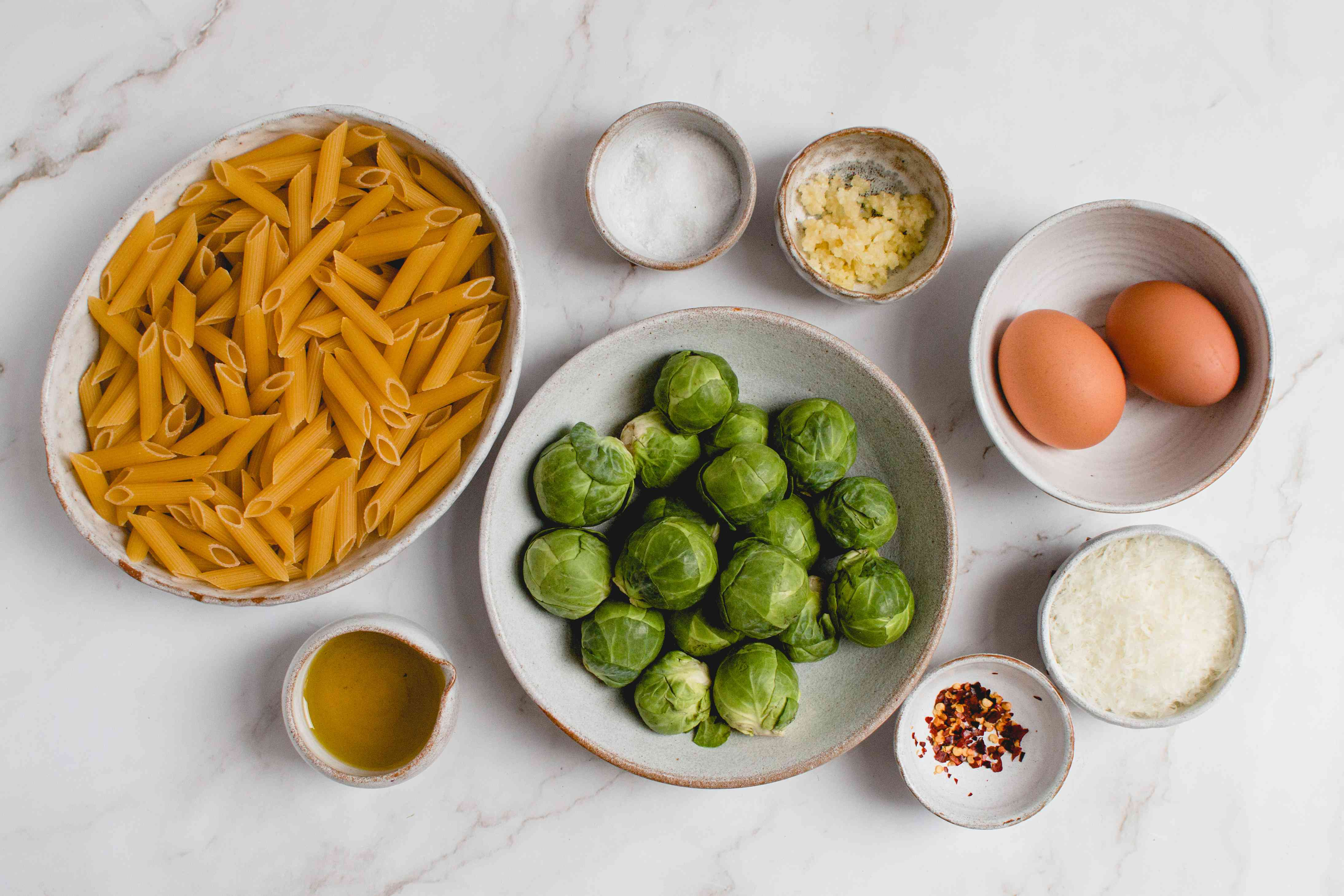 Pasta With Brussels Sprouts and Pecorino Cheese ingredients