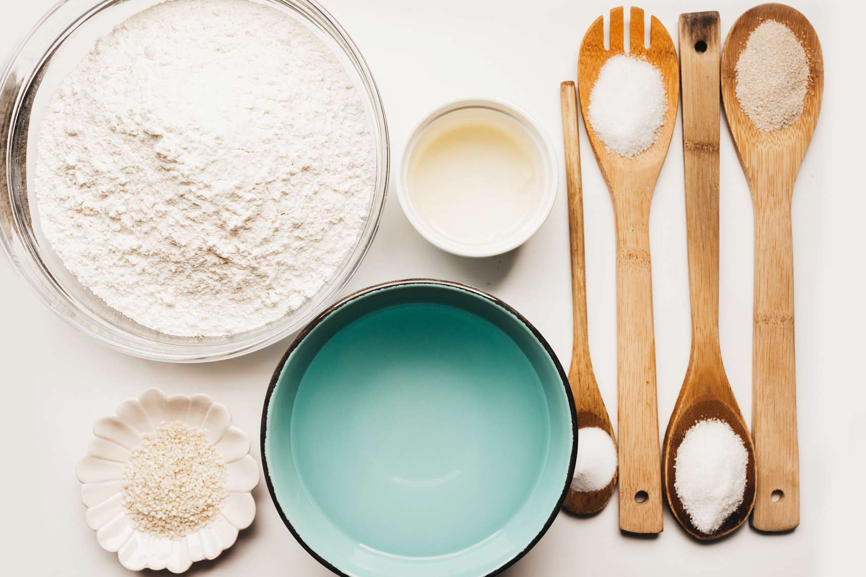 Ingredients for French bread