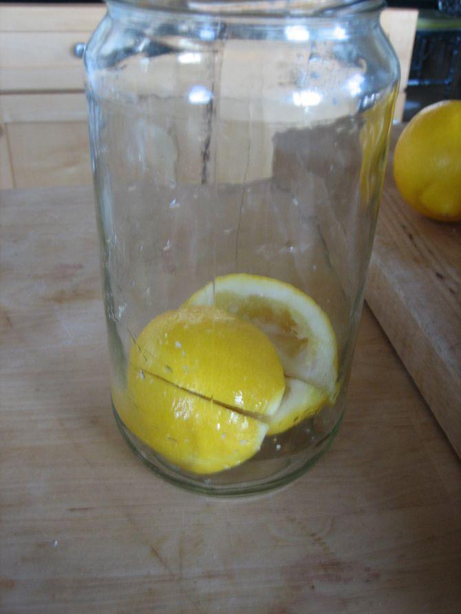 Salted Lemons In Jar