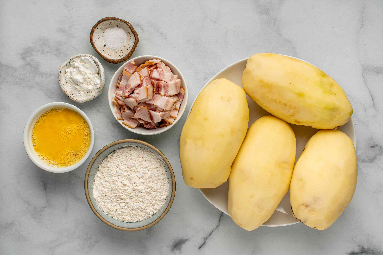 Grated Potato Dumplings Recipe - Polish Pyzy ingredients