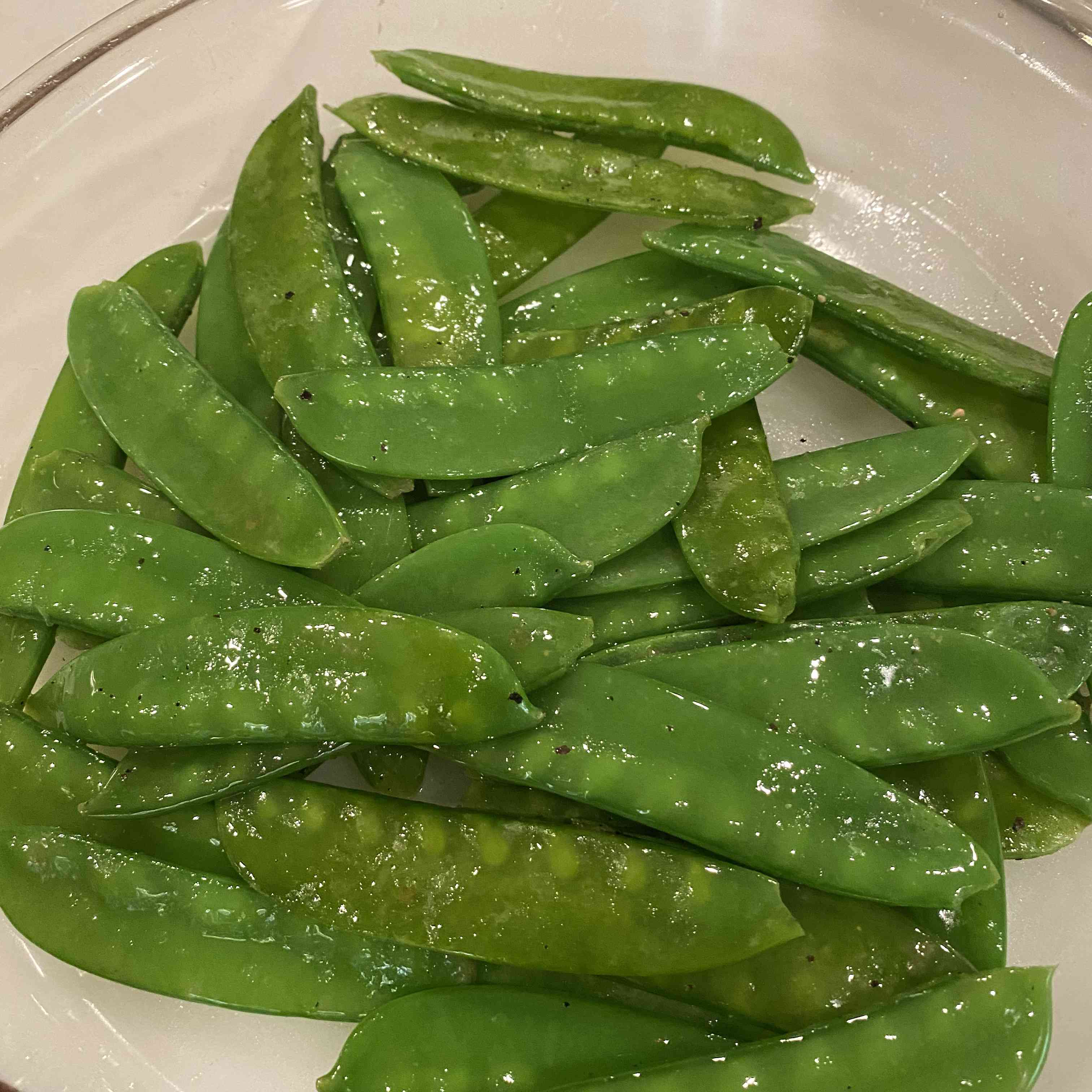 Snow Peas with Butter and Lemon Tester Image