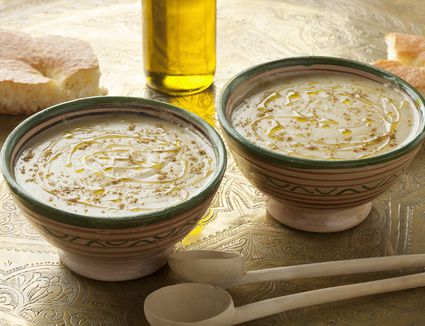 Moroccan Fava Bean (Broad Bean) Dip or Soup - Bessara