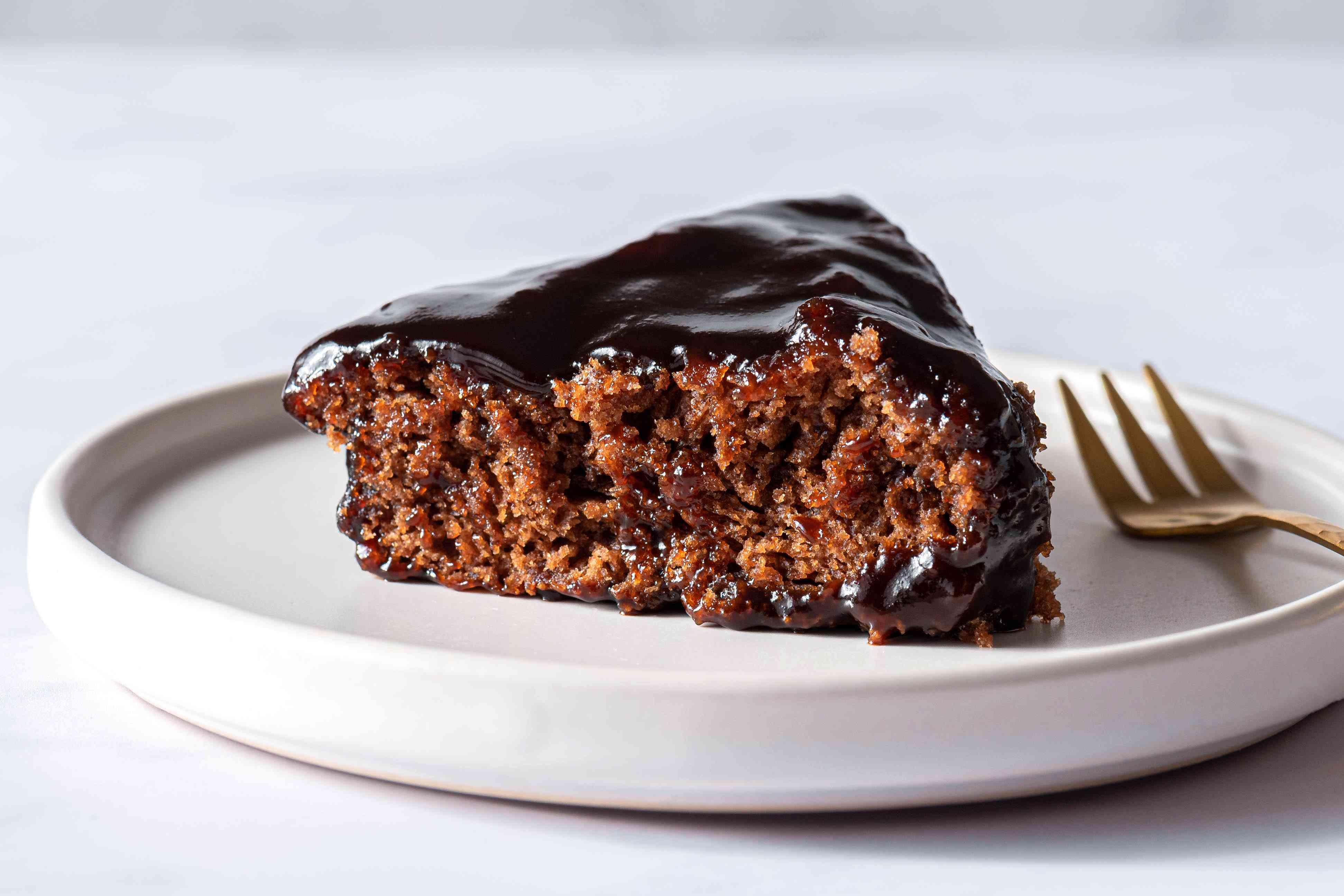 Chocolate Upside Down Cake slice