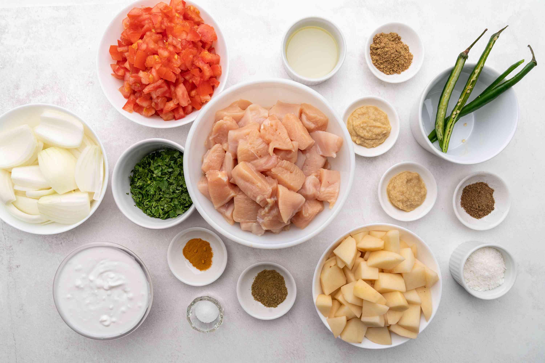 Maharashtrian Chicken Curry ingredients