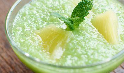 Vietnamese green sticky rice and pineapple dessert