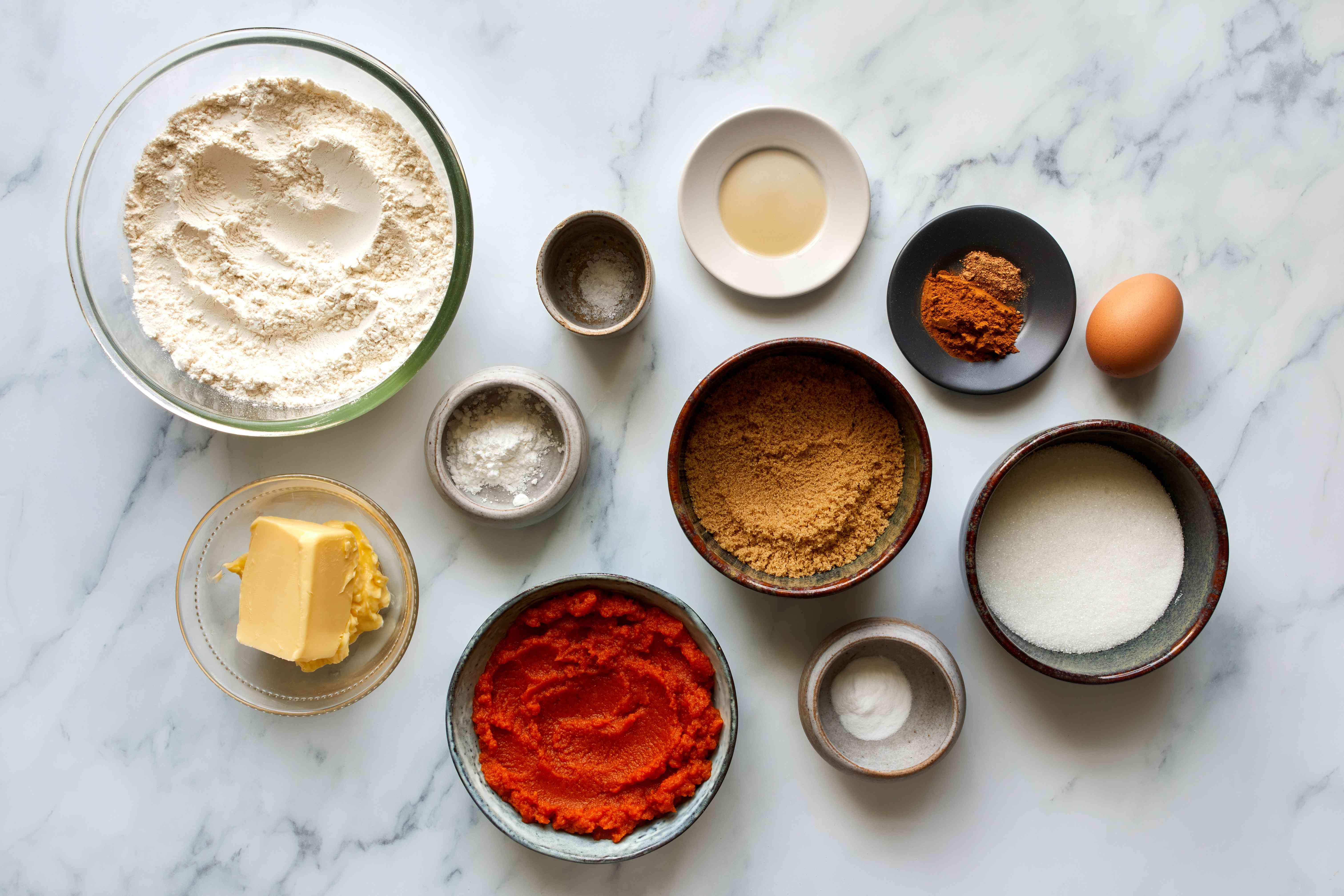 Soft Pumpkin Cookies ingredients