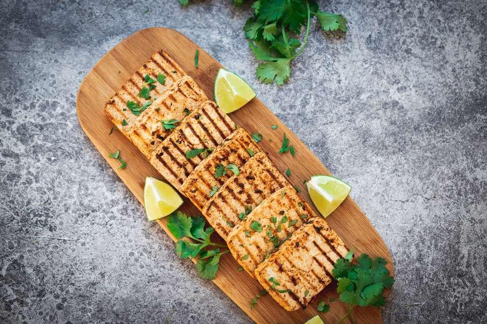 Cilantro lime grilled tofu recipe