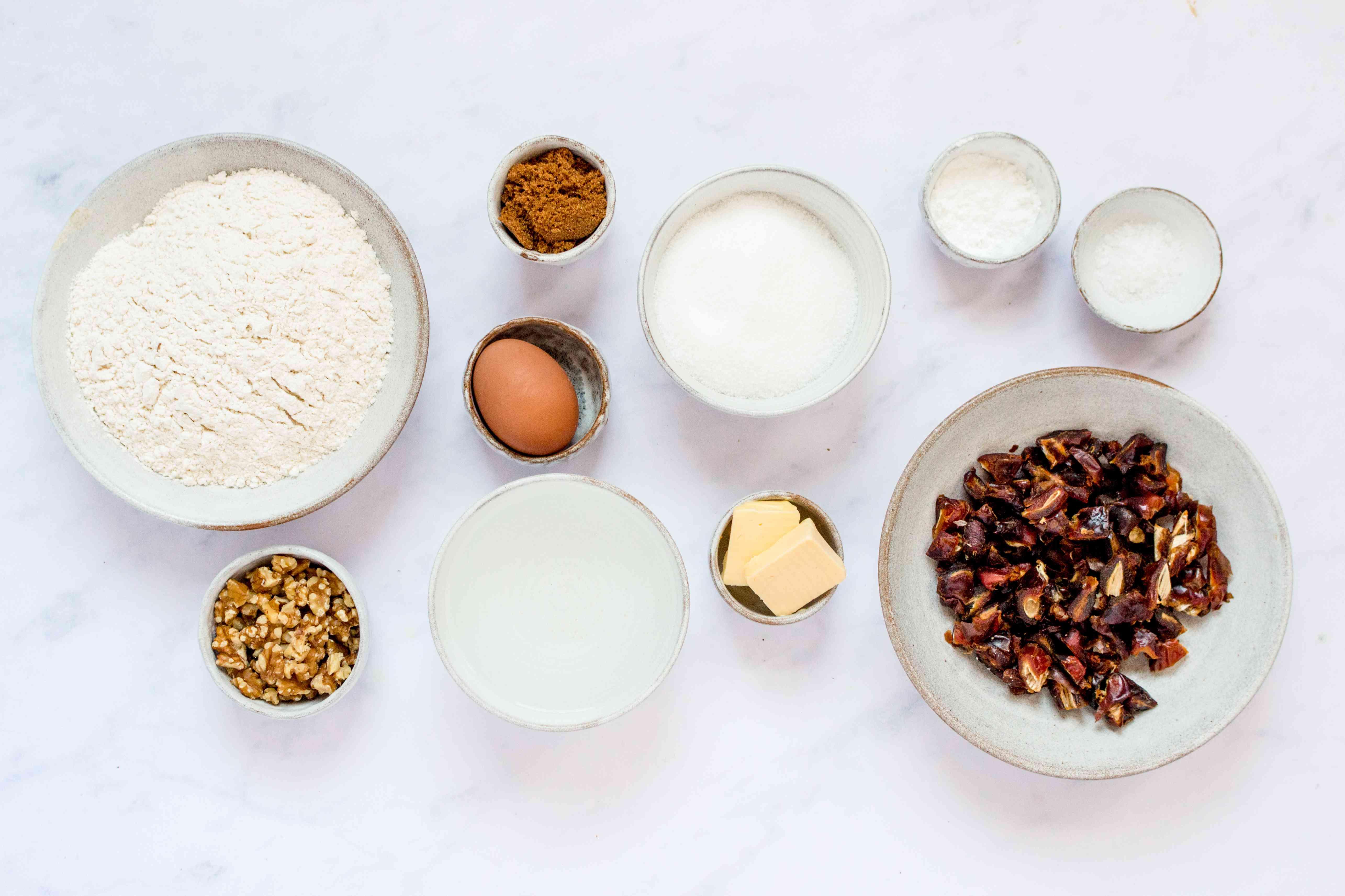 Classic Moist Date Nut Bread ingredients