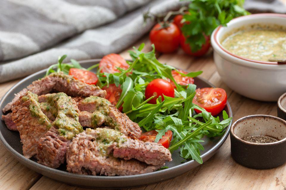 comida fácil de filete en minutos