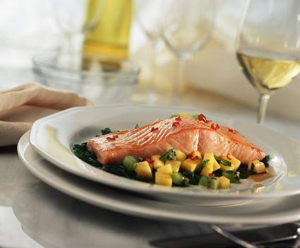 Salmon and wine pairing