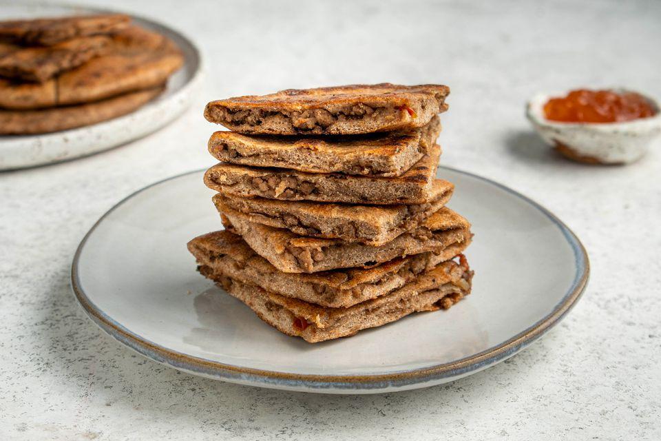 Spicy Minced Meat Kheema Paratha
