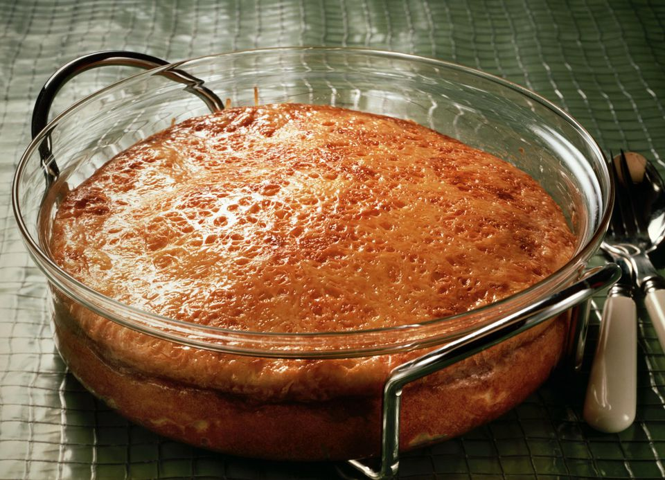 Potato cheese souffle