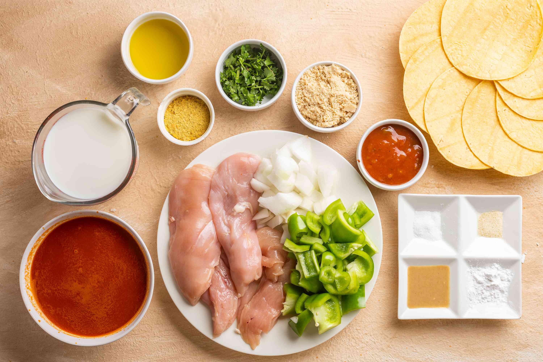 Dairy-Free Chicken Enchiladas Recipe ingredients