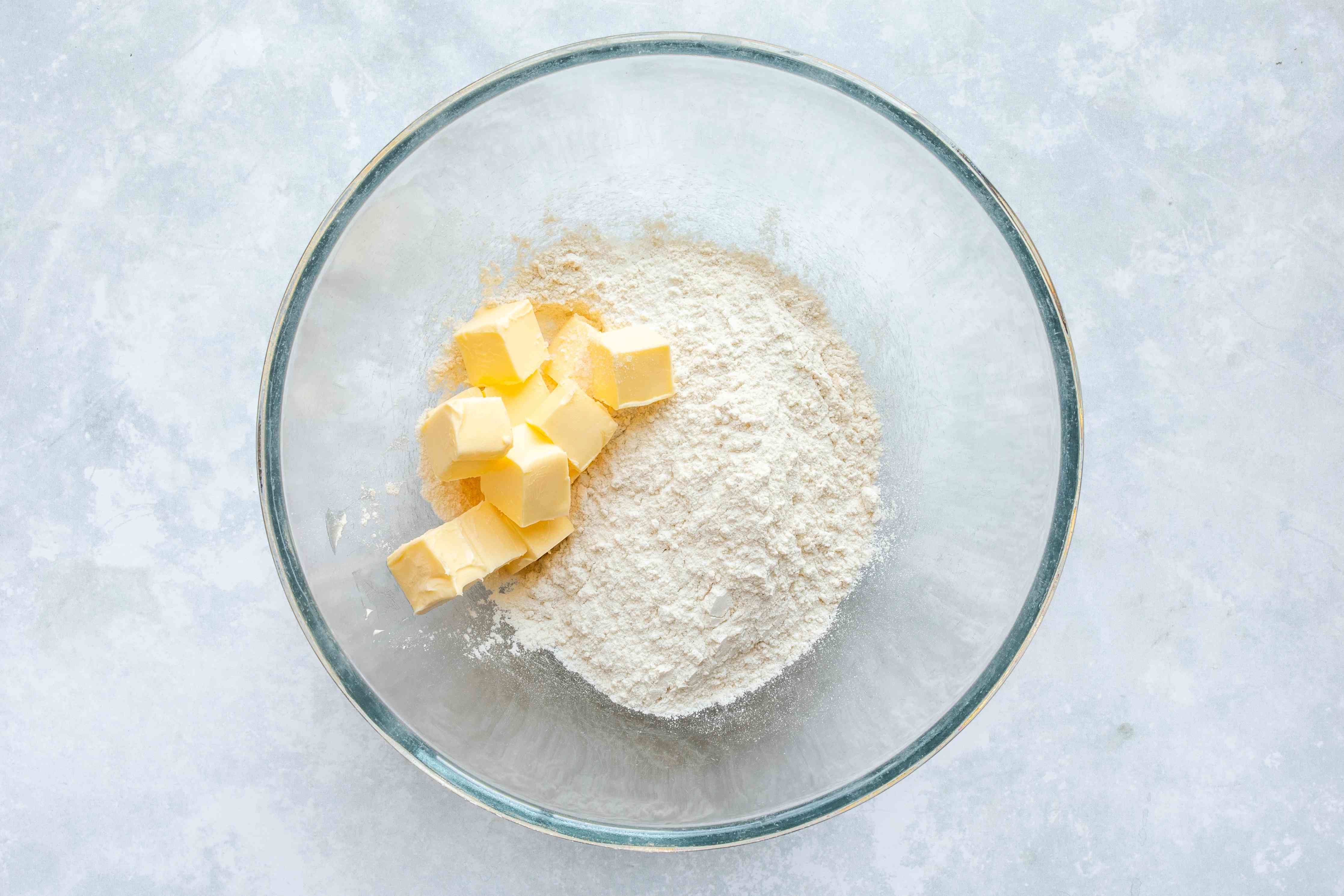 Butter and flour in a bowl
