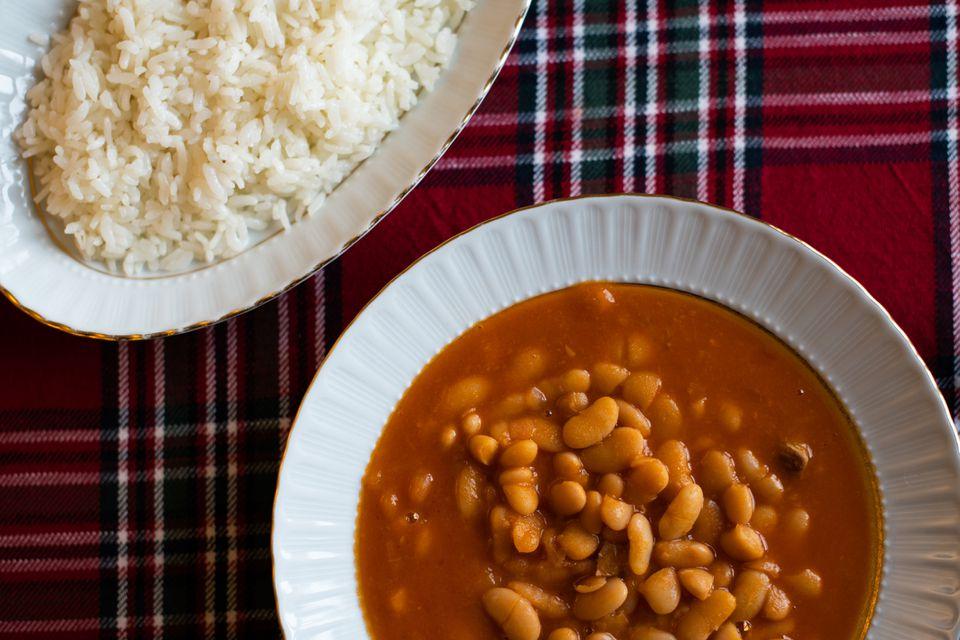 spanish white beans and rice