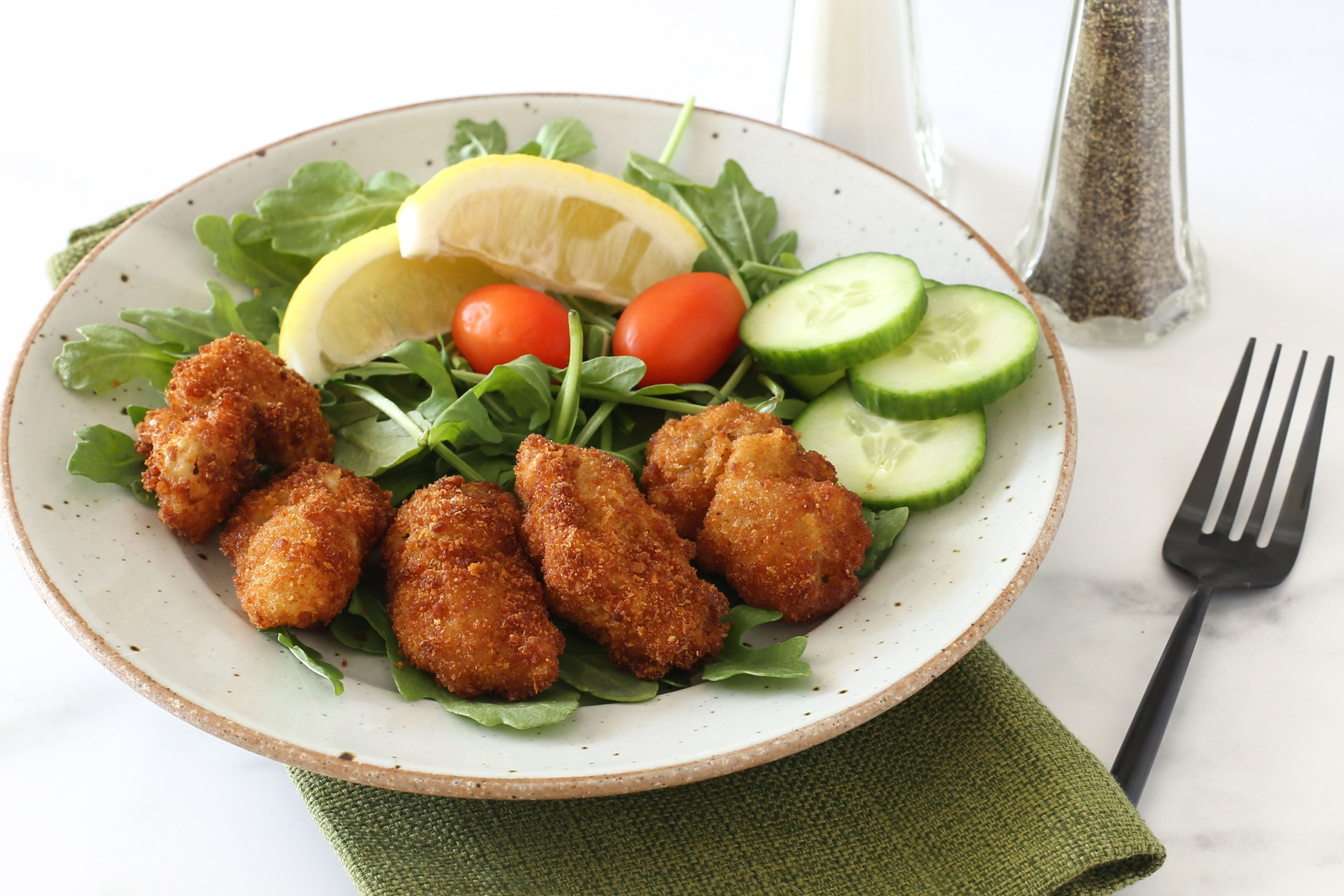 Southern style fried oysters