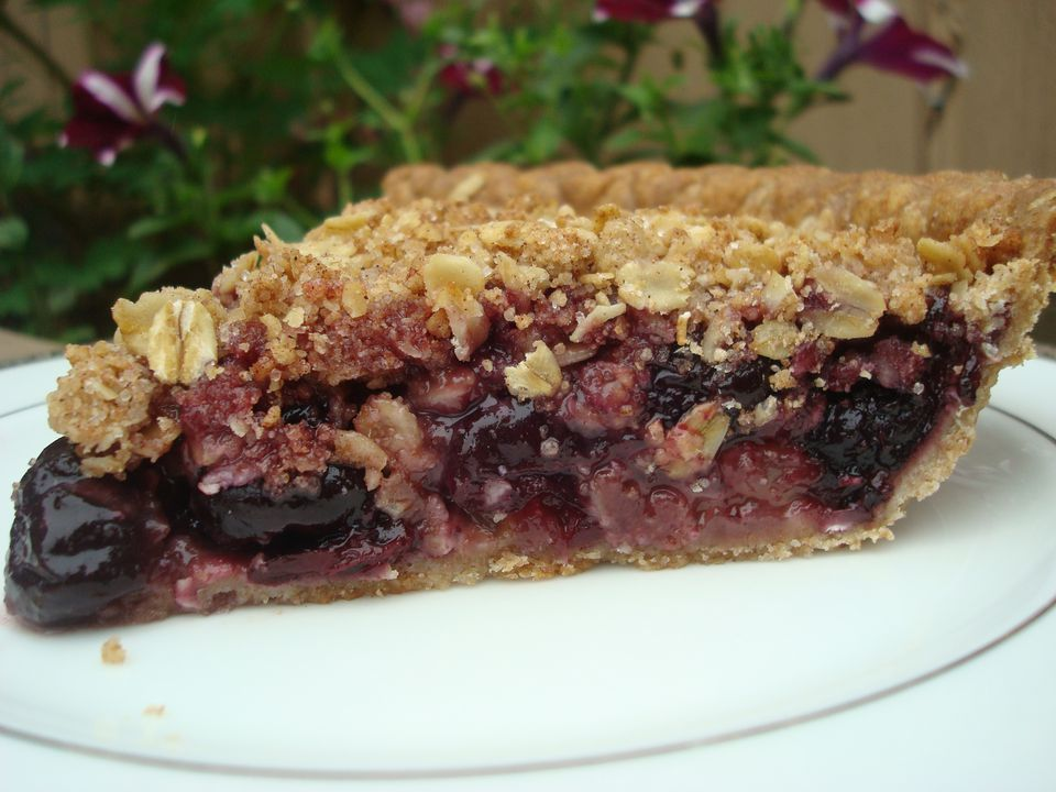 Cherry Pie with Oat Streusel Topping