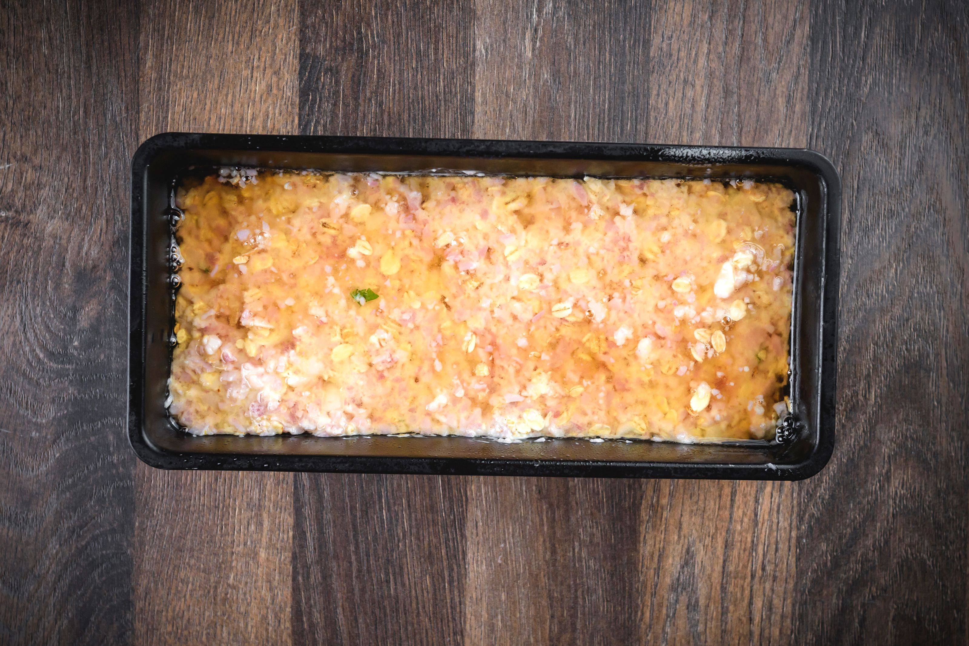 Pour brown sugar mixture over ham
