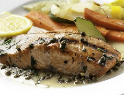 Salmon and capers