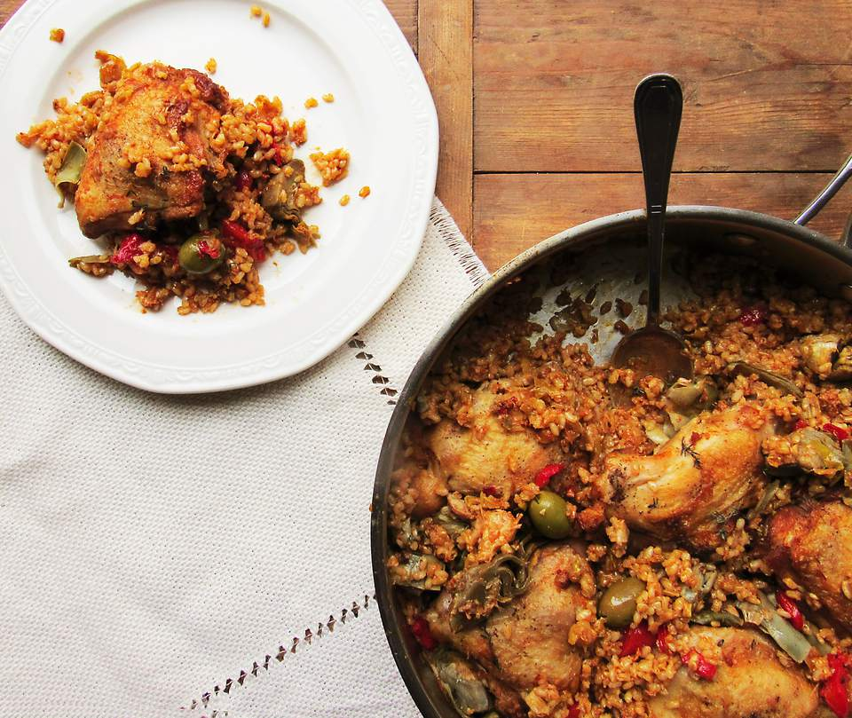Chicken with Rice and Chorizo