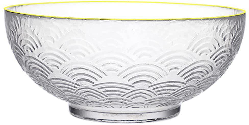 SDFB Retro Wave Pattern Glass Ramen Bowl