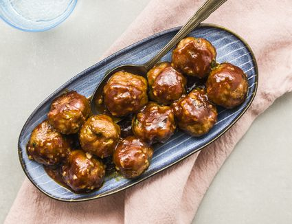 Honey garlic pork meatballs
