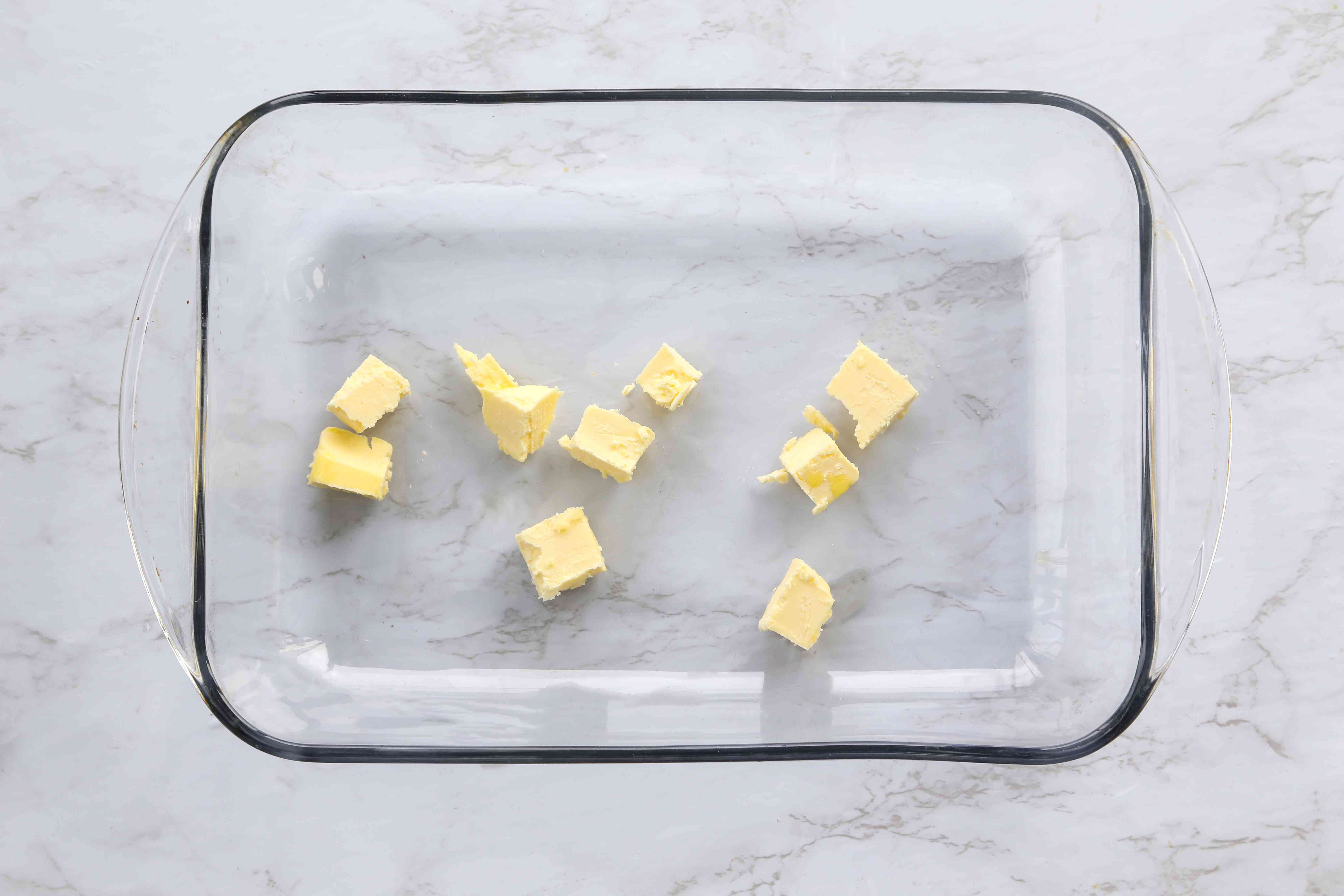 butter in a baking dish