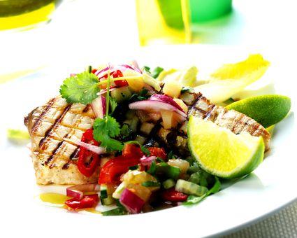 Spicy tuna steaks