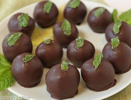 Fresh mint truffles