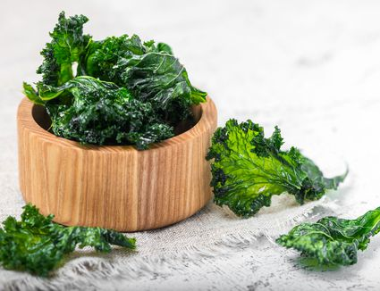 Dehydrated kale chips