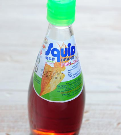 A bottle of fish sauce