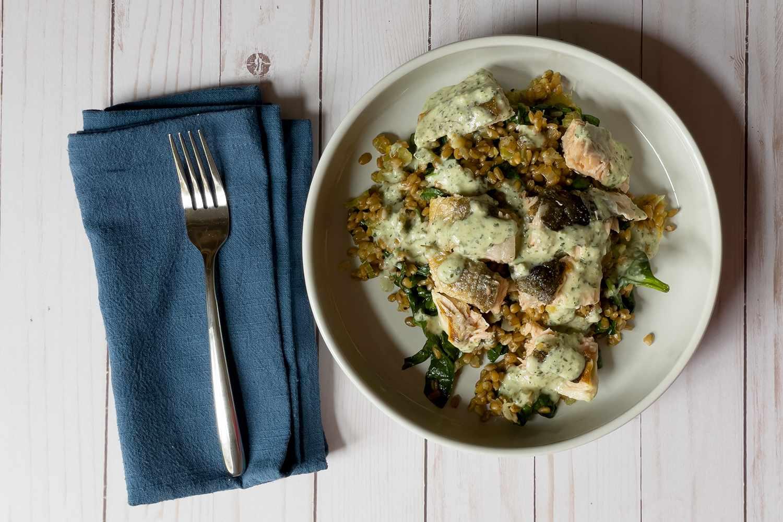 Sunbasket prepared meal on plate