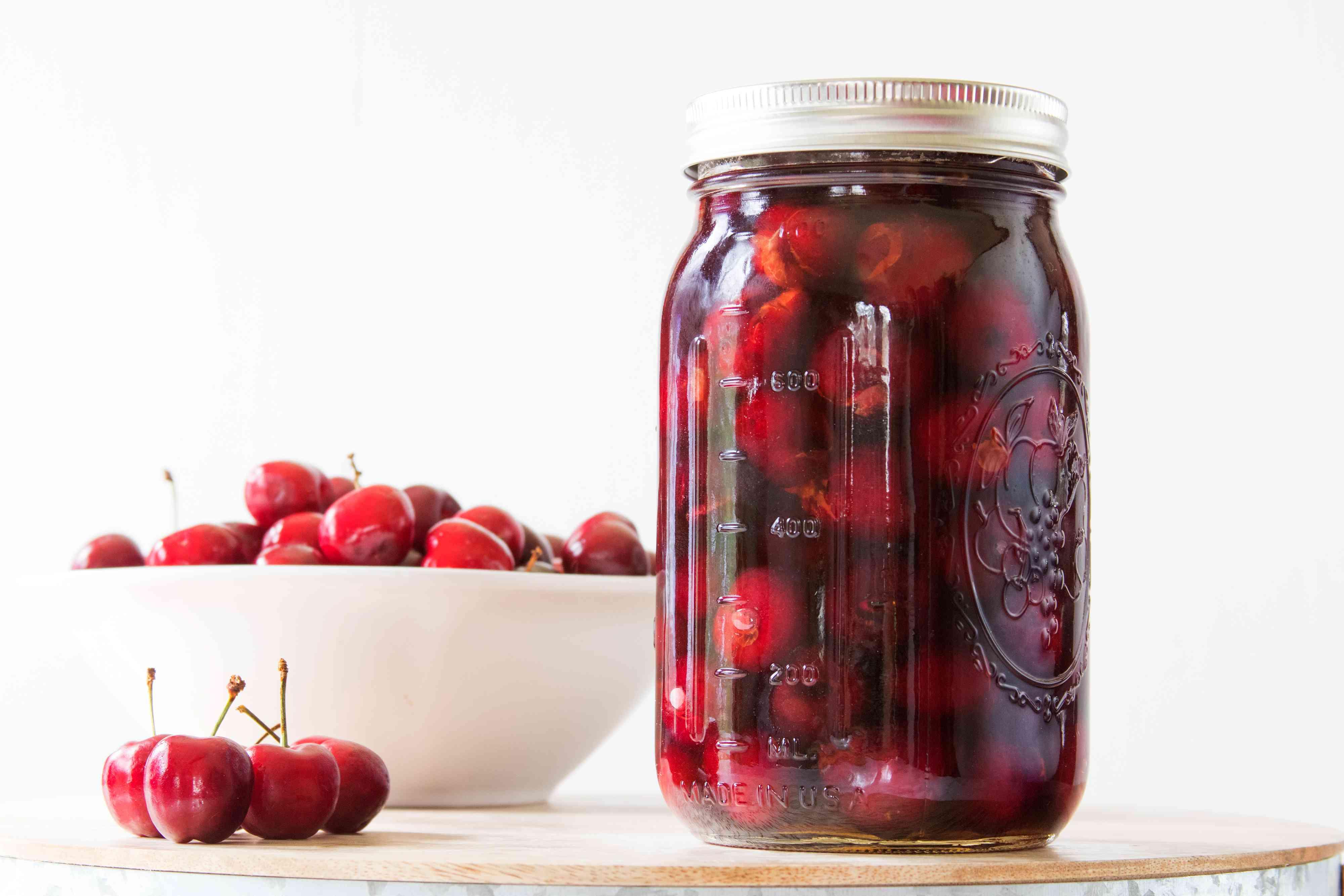 Homemade Brandied Cherries