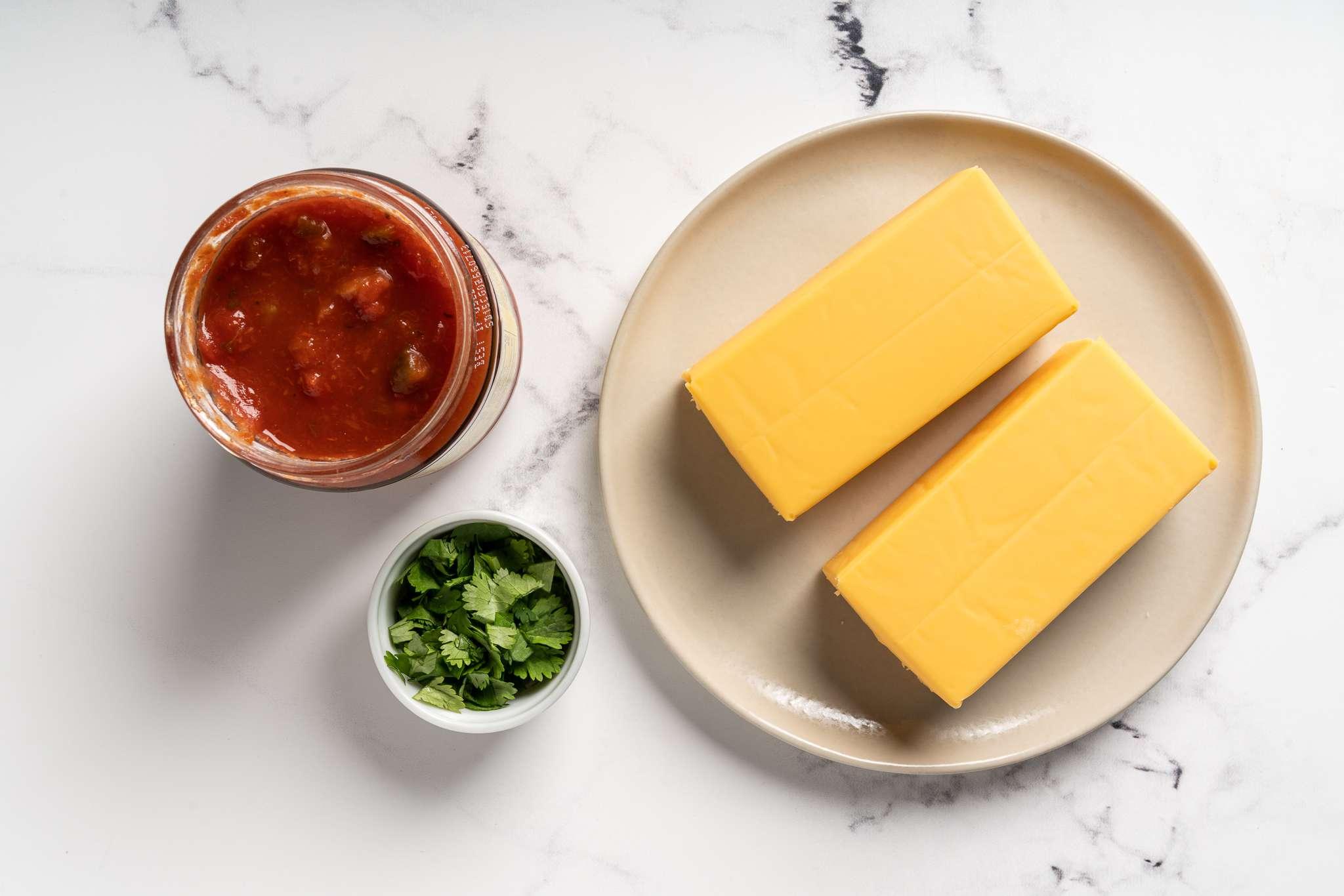 3-Ingredient Slow Cooker Velveeta Cheese Salsa Dip ingredients