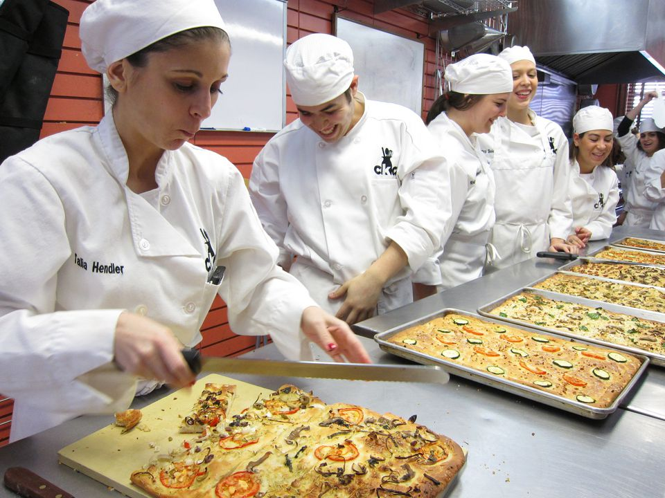CKCA students with freshly baked focaccia
