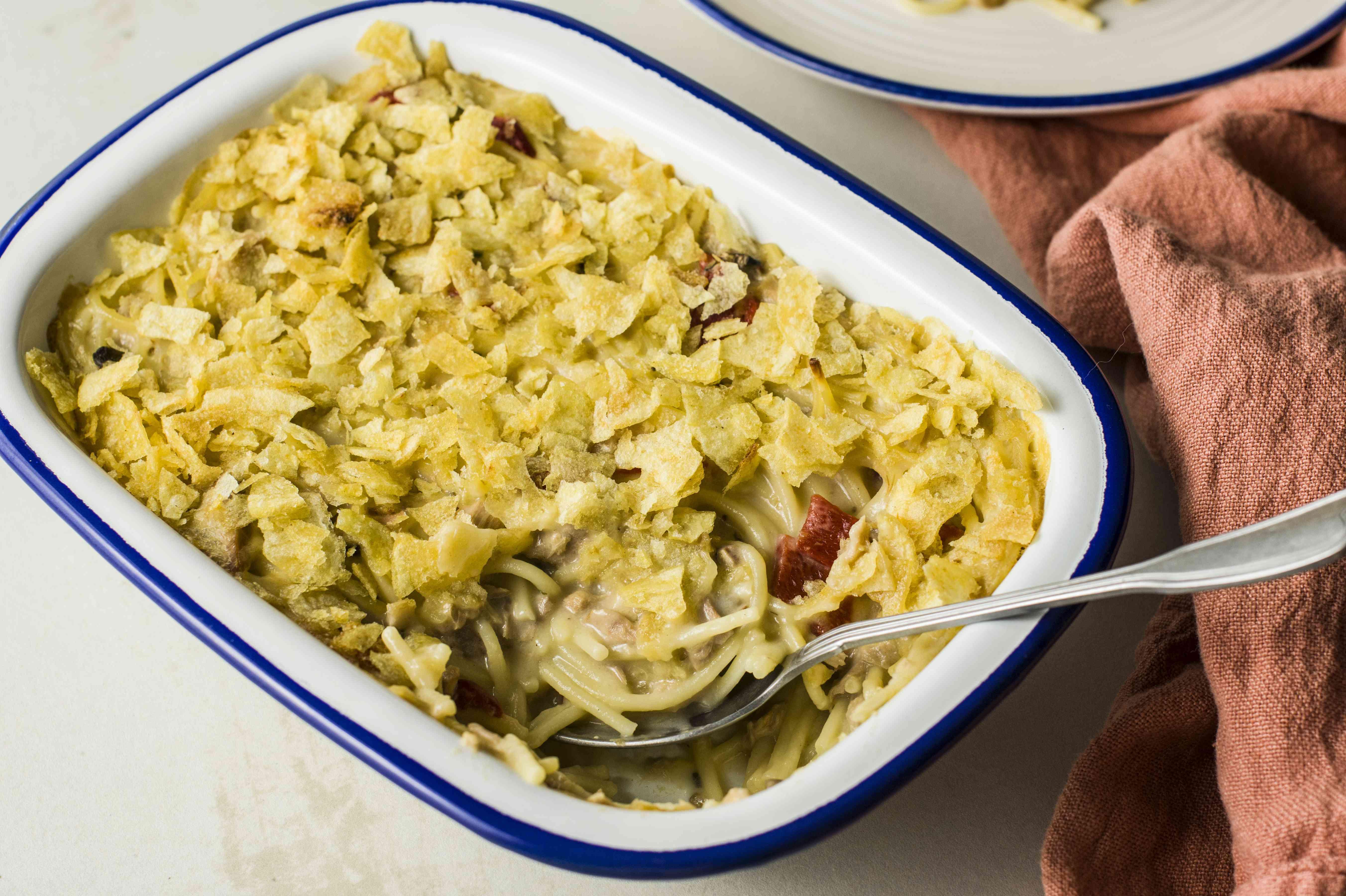 Tuna casserole with spaghetti recipe